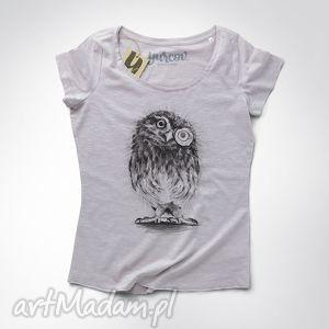 sowa pójdźka koszulka damska, koszulka, tshirt, sowa, nadruk, print ubrania