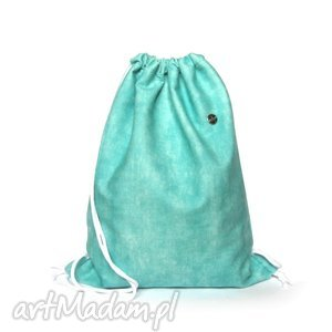 plecaki plecak worek lagoon, plecak, worek, hobo, przecierany, welurowy, handmade