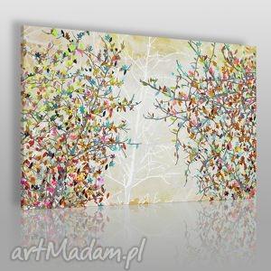 Obraz na płótnie - DRZEWA LIŚCIE 120x80 cm (23001), drzewa, liście, kolory, gałęzie