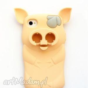 etui swinka iphone 4 4s, świnka, etui, beżówe, iphone