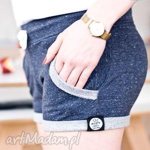 wyszczuplające kobiece spodenki spodnie krótkie bawełniane dżinsowe melanżowe xs s
