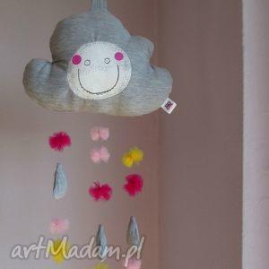 pokoik dziecka chmurka z serii fluffy- mobil zawieszka, chmurka, mobil, zawieszka