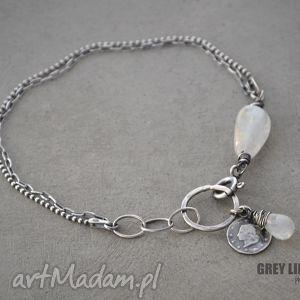 moonstone mini, srebro, kamień, księżycowy, delikatna biżuteria