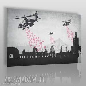 obrazy obraz na płótnie - helikopter róże warszawa 120x80 cm 51501