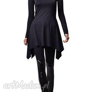 unikalny prezent, fashion tunika - czarna, tunika, jersey, polyamid