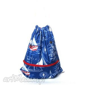plecak worek sailor, plecak, worek, hobo, marynarski, handmade, bawełniany torebki