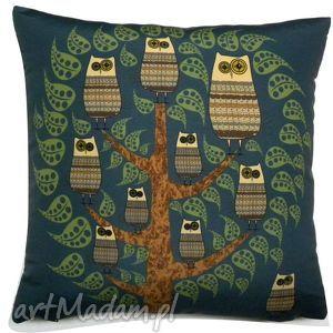 Poduszka dekoracyjna z sowami, poduszka, sowa, sowy