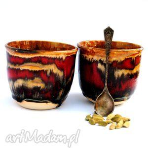 ceramika ceramiczne czarki miód i truskawki i, czarka, czerki, naczynie, uzytkowe