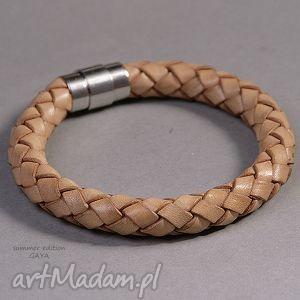 Prezent Obwarzanek, skóra, naturalna, magnetyczne, minimalistyczna, modna, prezent