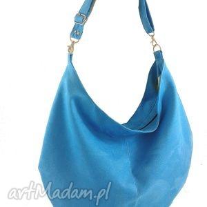 sack turquoise, torebka, worek, hobo, zamsz torebki, świąteczny prezent
