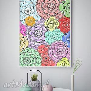 malgorzata domanska plakat a2, kwiaty, kwiatki, plakat, obraz dom