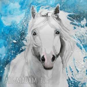 obraz na płótnie łagodność 100x70cm artystki a laube, koń, zwierzę, płótno, wydruk