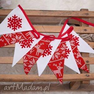 dekoracje idą święta girlanda w stylu scandi, świąte, świąteczny
