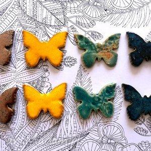 ceramika motyle, zwierzęta, ceramika, motylki, owady dom