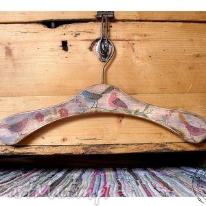 wieszaki ptasi drewniany wieszak, kropki, ptaszki, retro, vintage, folk dom
