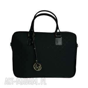torebki manzana biznes styl torba na laptopa czarna matowa, manzana, biznes