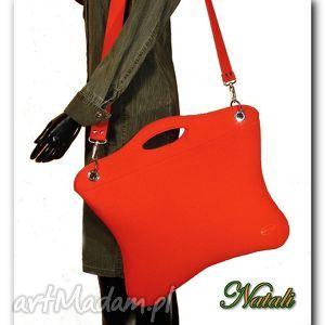 Oryginalna, uniwersalna duża czerwona torba, torebka, filc, handmade, laptop