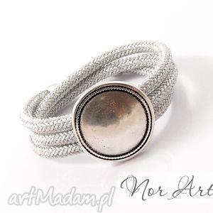 unikalny prezent, bransoletki bransoletka miracle, lina, sznur, cyna