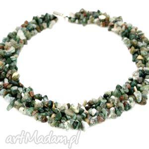 naszyjnik kolia agat indyjski - naszyjnik, kolia, agat, indyjski, pleciony, kamień