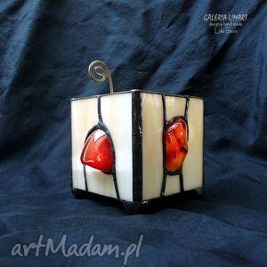 karneol podświetlony lampion-świecznik prezent z klasą prawdziwy hand made