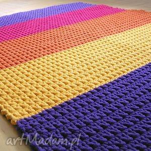Dywan tęczowy, dywan, chodnik, sznurek, dziecko, podłoga