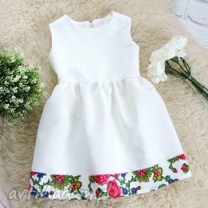 biała sukienka góralska folkowa dziecięca, sukienka, góralska, dziewczynka