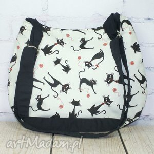 na ramię koty mięcie, kot, kotek, kotki, kociak, prezent, eko torebki, prezent