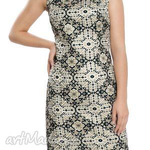 sukienka wieczorowa z bogatym wzorem rozmiar 40, wieczorowa, sylwestrowa