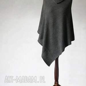 knitwear factory poncho z wełny merino superwash, poncho, sweter, dzianina