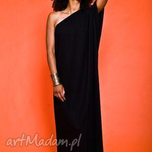 asymetryczna suknia wieczorowa, żorżeta, suknia, maxi