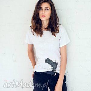 hand-made koszulki gun girl oversize t-shirt