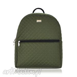 plecak damski 659 khaki, plecak, damski, rękodzieło, pikowany