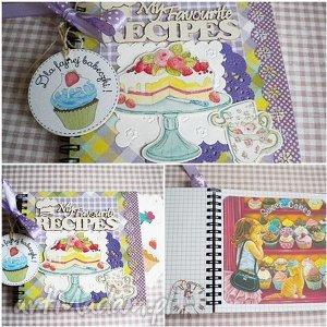 przepiśnik dla fajnej babeczki, na słodkie słodkości , babeczka, książka, kucharska