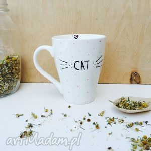 kubki kubek miłośniczki kotów, cat, kubek, lady, kot, meow, wąsy dom