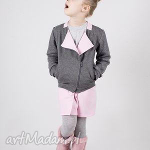 kurtka dk01g tito, ramoneska, zamek, bawełniana ubranka dla dziecka