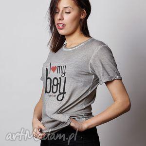 i love my boy prezent na walentynki dla niej, walentynki, prezent, tshirt, koszulka
