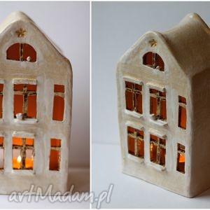 Domek lampion, domek, ceramika, vintage, ażurowy