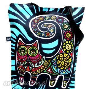 na ramię torba napę z kotem, kot, torba, pojemna torebki, prezent święta