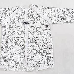 bluzeczka w duszki z przeszyciami , bawełna, duszki, bluzka, wygoda, handmade, biała