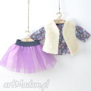 przytullale liliowa tutu tunika łączka, ubranka, lalki, spódniczka, fioletowa