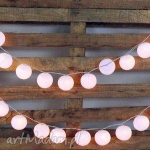 Qule Lampki Cotton Balls Light Śnieżnobiałe 20 qul, wesele, oświetlenie, kule, lampki