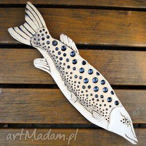 ceramika nakrapiana b - ceramiczna ryba na ścianę, użytkowe, zawieszka, dekor