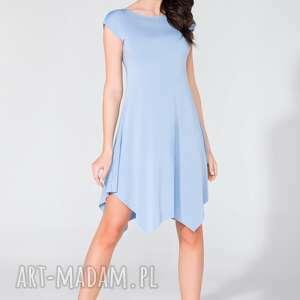sukienka t137 niebieski - sukienka, letnia, wygodna