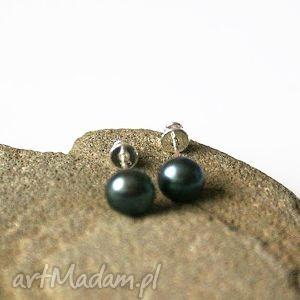 kolczyki wkrętki srebrne perła naturalna, kolczyki, wkrętki, srebrne, perły