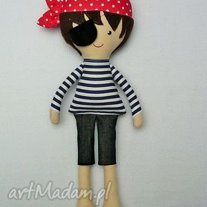dollsgallery bawełniana lala pirat, lalka, zabawka, przytulanka, prezent