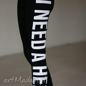 sportowe młodzieżowe legginsy z napisem nadrukiem getry rurki, redmasterclothes