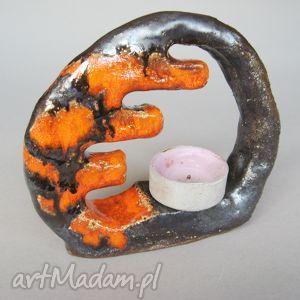 świecznik modern look, prezent, świecznik, oryginalny, handmade, ceramika, nowoczesny