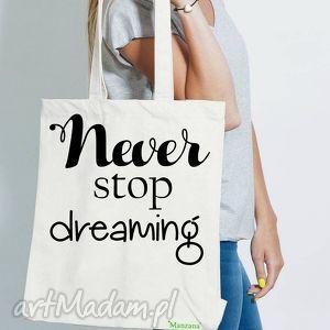 bawełniana torba ekologiczna eko - never stop dreaming, bawełniana