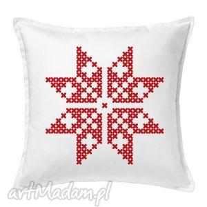 poduszka świąteczna gwiazdka, poduszka, prezent, święta, mikołaj