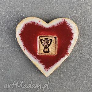 magnes ceramiczny serduszko , magnes, ceramiczny, serduszko, serce, walentynki dom